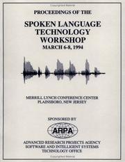Cover of: DARPA Speech/Language Proceedings 1994 | DARPA