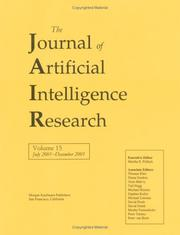 Cover of: Journal of Artificial Intelligence Research, July 2001-December 2001 by Jair
