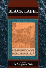 Cover of: Black Label by Margaret Cole
