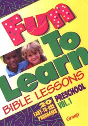 Cover of: Fun-to-learn Bible lessons | Nancy Paulson