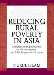 Cover of: Reducing Rural Poverty in Asia | Islam, Nurul