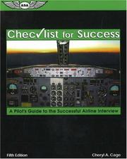 Cover of: Checklist for success by Cheryl A. Cage