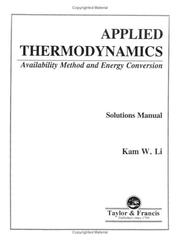 Cover of: Applied Thermodynamics | Li Kam