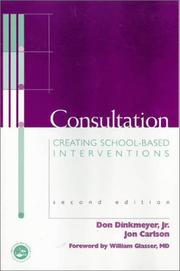 Cover of: Consultation | Dinkmeyer, Don C.