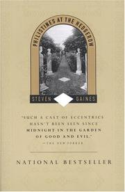 Cover of: Philistines at the Hedgerow | Steven Gaines