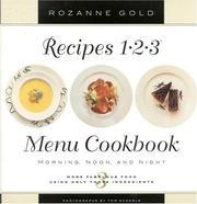 Recipes 1-2-3 menu cookbook