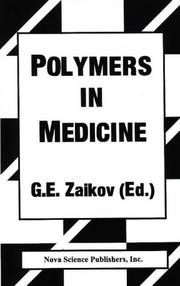 Cover of: Polymers in Medicine | Gennadii Efremovich Zaikov
