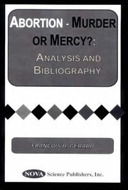 Cover of: Abortion-Murder or Mercy? | Francois B. Gerard
