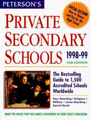 Cover of: Peterson's Private Secondary Schools | Petersons