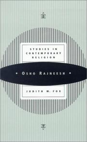 Cover of: Osho Rajneesh | Judith M. Fox