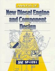 Cover of: Analysis of New Diesel Engine and Component Design | Society of Automotive Engineers.