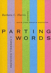 Cover of: Parting Words | Barbara C. Harris