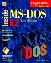 Cover of: Inside MS-DOS 6.2 | Mark Minasi