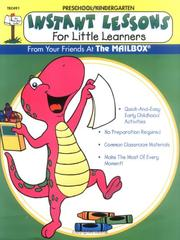 Cover of: Instant Lessons for Little Learners by Becky S. Andrews