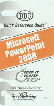 Cover of: PowerPoint 2000 Quick Reference Guide (Quick Reference Guides) | Jeff Grisenthwaite