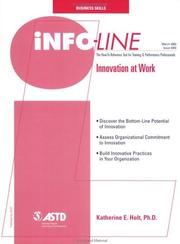 Cover of: info-Line Innovation at Work | Katherine E. Holt