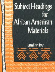 Cover of: Subject headings for African-American materials by Lorene Byron Brown