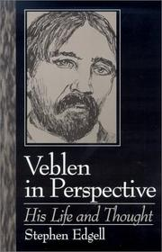 Cover of: Veblen in Perspective by Stephen Edgell