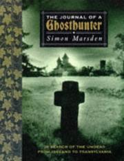 Cover of: The journal of a ghost hunter by Simon Marsden