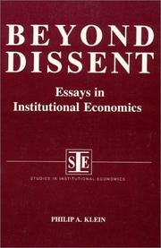 Cover of: Beyond dissent | Philip A. Klein
