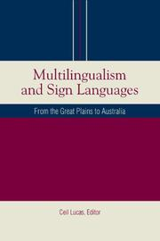 Cover of: Multilingualism and Sign Languages by Ceil Lucas