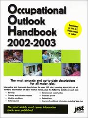Cover of: Occupational Outlook Handbook 2002-2003 (Occupational Outlook Handbook (Jist Works)) by United States. Department of Labor.
