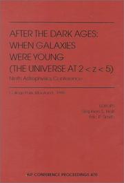Cover of: After the dark ages | October Astrophysics Conference (9th 1998 College Park, Md.)
