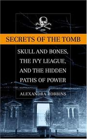 Cover of: Secrets of the Tomb | Alexandra Robbins