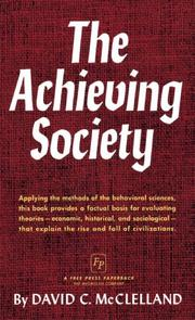 Cover of: The Achieving Society | David C. McClelland