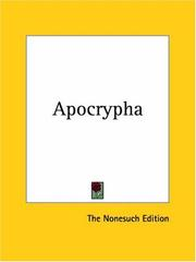 Cover of: Apocrypha | The Nonesuch Edition