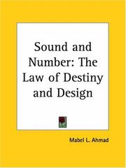Cover of: Sound and Number | Mabel L. Ahmad