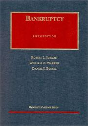 Cover of: Bankruptcy | Robert L. Jordan