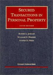 Cover of: Secured transactions in personal property | Robert L. Jordan
