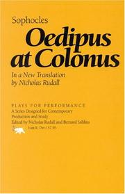 Cover of: Oedipus at Colonus by Sophocles