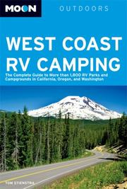 Cover of: Moon West Coast RV Camping | Tom Stienstra