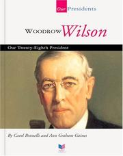 Cover of: Woodrow Wilson by Ann Gaines