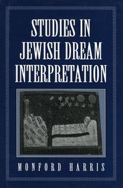 Cover of: Studies in Jewish dream interpretation | Monford Harris