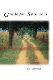 Cover of: Guide for sponsors | Ron Lewinski