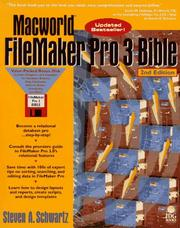 Cover of: Macworld FileMaker Pro 3 Bible by Steven A. Schwartz