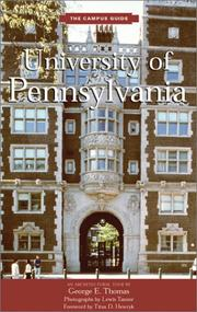 Cover of: University of Pennsylvania by George E. Thomas