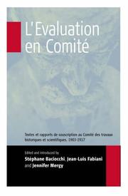 Cover of: L'e ́valuation en comité | Émile Durkheim