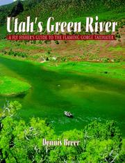 Cover of: Utah's Green River by Dennis Breer