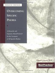 Cover of: Overcoming Specific Phobias - Therapist Protocol | Edmund J. Bourne