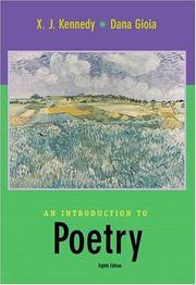 Cover of: An Introduction to Poetry by Dana Gioia