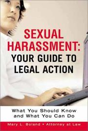 Cover of: Sexual harassment | Mary L. Boland