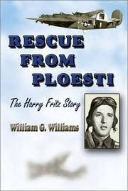 Cover of: Rescue from Ploesti by Williams, William G.