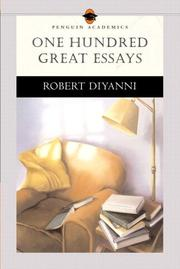 Cover of: One hundred great essays | Robert DiYanni