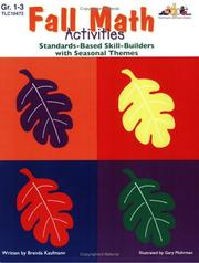 Cover of: Fall Math Activities by Brenda Kaufman