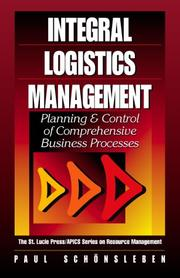 Cover of: Integrales Logistikmanagement by Paul Schönsleben