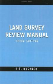 Cover of: Land Survey Review Manual | R. Ben Buckner